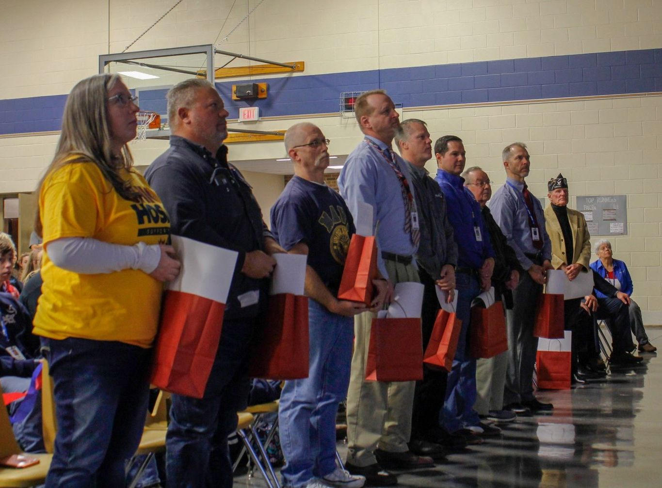 Veterans on staff recognized during Veterans day assembly
